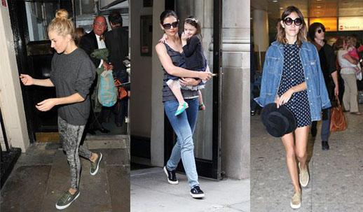 Celebs who love Superga... Sienna Miller, Katie Holmes, Alexa Chung (image: Style Lemon)
