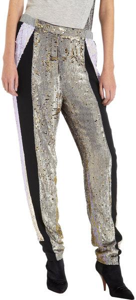 Derek Lim sequinned silk track pants